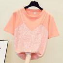 Women's large Summer 2021 Orange, rose, white M [suggested 80 ~ 100 Jin], l [suggested 100 ~ 120 Jin], XL [suggested 120 ~ 140 Jin], 2XL [suggested 140 ~ 160 Jin], 3XL [suggested 160 ~ 180 Jin], 4XL [suggested 180 ~ 200 Jin], wholesale more than 500 pieces, 26.8 yuan T-shirt singleton  commute thin