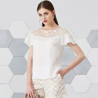 Lace / Chiffon Summer of 2018 Benbai S,M,L,XL,XXL Short sleeve commute Socket singleton  Straight cylinder Regular Crew neck Solid color Flying sleeve 30-34 years old Eternal.color/eternal color lady