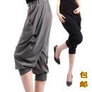 Casual pants Light grey, black, dark grey 40. 2XL, 3XL, 4XL, 5XL, XL (boutique modal), 2XL (boutique modal), 3XL (boutique modal), 4XL (boutique modal), 5XL (boutique modal) Cropped Trousers Haren pants Natural waist commute Thin money cotton Korean version