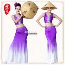 National costume / stage costume Spring 2017 With drilling, without drilling Xs, s, m, l, XL, custom G080 purple Dai clothing Imagination of Wuzhou