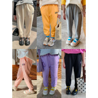 trousers Other / other female 80, 90, 100, 110, 120, 130, 140, 150 spring and autumn Ninth pants leisure time There are models in the real shooting Casual pants Leather belt middle-waisted other Don't open the crotch