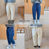trousers Other / other female 80, 90, 100, 110, 120, 130, 140, 150 Blue, cream, blue (pre-sale 4.8) spring and autumn Ninth pants Jeans other 18 months, 2 years old, 3 years old, 4 years old, 5 years old, 6 years old, 7 years old