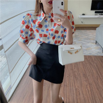Fashion suit Spring 2021 S. M, l, average size Red shirt, green shirt, black skirt, white skirt 18-25 years old