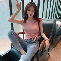 T-shirt White, green, black, pink Average size Spring 2020 Short sleeve Crew neck Self cultivation have cash less than that is registered in the accounts routine commute other 30% and below 18-24 years old Korean version