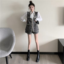 Fashion suit Winter 2020 Average size Black three piece set, white three piece set