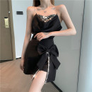 Fashion suit Summer 2021 S,M,L Black top, pink top, black skirt, white skirt 18-25 years old XL