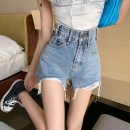 Jeans Summer 2021 Blue, black S,M,L shorts High waist Wide legged trousers 18-24 years old