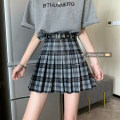 skirt Summer 2021 S,M,L Black check, red check Short skirt commute High waist Pleated skirt lattice Type A 18-24 years old 71% (inclusive) - 80% (inclusive) other Other / other polyester fiber zipper Korean version