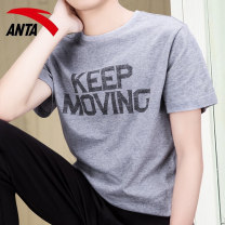 Sports T-shirt Anta 165/S 170/M 175/L 180/XL 185/2XL 190/3XL Short sleeve male Crew neck 95017110jmt routine Moisture absorption, perspiration, quick drying, super light, breathable and elastic Summer 2021 Brand logo design letter Sports & Leisure Sports life nylon yes