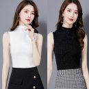 T-shirt Black, white, khaki M,L,XL,2XL,3XL Summer 2020 Sleeveless Half high collar Self cultivation Regular commute polyester fiber 51% (inclusive) - 70% (inclusive) 25-29 years old Korean version classic 1269 vines