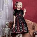Lolita / soft girl / dress The leopard has a cat black 2XL,L,M,S,XL Customized