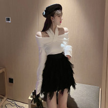 Fashion suit Spring 2020 S. M, l, average size White, black, tassel skirt 18-25 years old