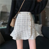 skirt Summer 2021 S,M,L Apricot, black Short skirt commute High waist A-line skirt other Type A 18-24 years old 31% (inclusive) - 50% (inclusive) other other Korean version