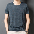 T-shirt Business gentleman 06-6653 dotted line crew neck short sleeve T-shirt green, 06-6653 dotted line crew neck short sleeve T-shirt black, 06-6653 dotted line crew neck short sleeve T-shirt red thin 170,175,180,185,190 Others Short sleeve Crew neck easy Other leisure summer routine other other
