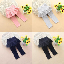 trousers Other / other female spring and autumn trousers lady Leggings Leather belt cotton Cotton 95% other 5% 12 months, 6 months, 9 months, 18 months, 2 years old, 3 years old, 4 years old, 5 years old, 6 years old