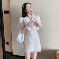Fashion suit Summer 2021 M, L Pink top, pink skirt 18-25 years old Other / other Q3.18 30% and below