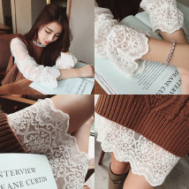 Lace / Chiffon Spring 2016 SML XL 2XL White (support for return) Long sleeve Commuting Sleeve Long section Single Straight Round neck Pure color