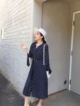 Dress Spring of 2019 S,M,L longuette Two piece set three quarter sleeve commute Polo collar Single breasted Others 25-29 years old YESWOMEN Simplicity A368 81% (inclusive) - 90% (inclusive) other other