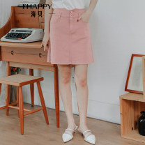 skirt Summer 2020 S M L XL Short skirt High waist A-line skirt Type A 25-29 years old More than 95% Ihappy / seashells other pocket Other 100% Same model in shopping mall (sold online and offline)