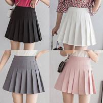 skirt Summer 2021 S,M,L,XL,2XL Wjjc-1212 white, wjjc-1212 gray, wjjc-1212 black, wjjc-1212 Pink Short skirt commute High waist A-line skirt 18-24 years old WJJC-1212 31% (inclusive) - 50% (inclusive) other other Nail bead, lace, hollow out