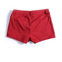 Casual pants gules S,M,L,XL,2XL Fall 2017 shorts Straight pants Natural waist Versatile routine 25-29 years old 96% and above polyester fiber pocket polyester fiber