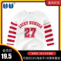 T-shirt spring and autumn leisure time No model in real shooting nothing Class A other neutral 27KIDS 2 years old, 3 years old, 4 years old, 5 years old, 6 years old, 7 years old, 8 years old, 9 years old, 10 years old, 18 months old cotton Cartoon animation Long sleeve Crew neck