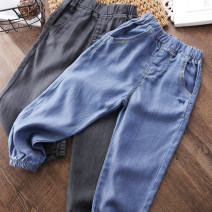 trousers Other / other neutral The recommended height is 100cm for size 100, 110cm for Size 110, 120cm for Size 120, 130cm for Size 130, 140cm for size 140 and 150cm for size 150 Blue, black and gray summer trousers leisure time No model Jeans Leather belt middle-waisted Cotton denim c-049 Class B