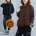 Sweater / sweater Winter 2020 Brown, black L [recommended 100-160 kg], XL [recommended 160-210 kg] Long sleeves routine Socket Fake two pieces Plush High collar easy commute routine stripe 51% (inclusive) - 70% (inclusive) Other / other Korean version cotton Splicing cotton Intradermal bile duct