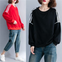 Women's large Winter 2020, autumn 2020 Red, black One size fits all Sweater / sweater singleton  commute easy moderate Socket Long sleeves Stripe, solid color literature Crew neck routine cotton Collage routine Other / other 25-29 years old 71% (inclusive) - 80% (inclusive)