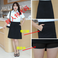 skirt Autumn of 2019 Middle-skirt Versatile High waist Suit skirt Solid color Type A 25-29 years old other Other / other cotton