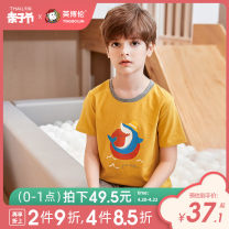suit Inborn 110cm 120cm 130cm 140cm 150cm 160cm male summer leisure time Short sleeve + pants 2 pieces Thin money There are models in the real shooting Socket nothing Cartoon animation Pure cotton (100% cotton content) Class B Cotton 100% Spring 2021 Chinese Mainland Zhejiang Province Wenzhou City