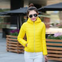 Cotton padded clothes M,L,XL,2XL,3XL Winter of 2018 Ruofen have cash less than that is registered in the accounts Long sleeves thickening zipper commute Hood routine Self cultivation Solid color 81% (inclusive) - 90% (inclusive) polyester fiber other 18-24 years old