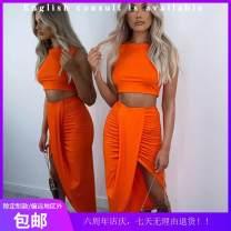 Fashion suit Summer 2020 S,XL,L,M Purple, khaki, grey, orange 25-35 years old polyester fiber