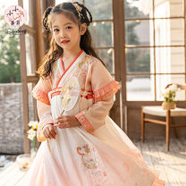 Hanfu nation Three, four, five, six, seven, eight, nine, ten, twelve Chiffon ethnic style female Pink Tagkita / she and others 100,110,120,130,140,150