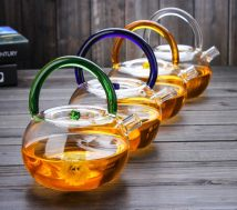 teapot Heat resistant glass other Heat resistant glass yes Self made pictures Boiling kettle green boiling kettle red boiling kettle yellow boiling kettle blue boiling kettle White Straight cup 6 Jin Xuande 701ml (including) - 800ml (including)