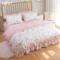 Bedding Set / four piece set / multi piece set cotton other Plants and flowers 133x72 HRHM cotton 4 pieces 40 Early summer (bed sheet) early summer (bed skirt) 1.5m bed quilt cover 200 * 230cm 1.8m bed quilt cover 200 * 230cm 2.0m bed quilt cover 220 * 240cm 1.8m bed quilt cover 220 * 240cm 100%