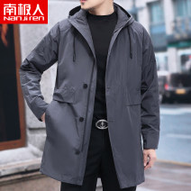 Windbreaker Gray, black NGGGN Business gentleman 170/M,175/L,180/XL,185/XXL,190/XXXL zipper Medium length standard Other leisure spring middle age Hood (not detachable) Business Casual Polyester 100% Solid color No iron treatment Side seam pocket Multiple pockets polyester fiber More than 95%