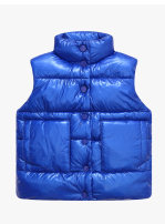 Vest neutral 90cm,100cm,110cm,120cm,130cm winter routine There are models in the real shooting Single breasted leisure time polyester fiber Solid color Cotton liner 12 months, 18 months, 2 years old, 3 years old, 4 years old, 5 years old, 6 years old