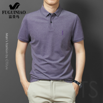 Polo shirt FGN / rich bird Fashion City routine Purple, sky blue, white, green, red, blue M,L,XL,2XL,3XL,4XL,5XL standard Other leisure summer Short sleeve FGN4221186 Business Casual routine youth 2021 Solid color No iron treatment Embroidery