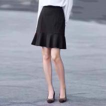 skirt Spring 2021 1 / XS, 2 / s, 3 / m, 4 / L, 5 / XL black commute High waist Solid color 1200131-2055211-001 71% (inclusive) - 80% (inclusive) corduroy Novel goldette cotton Ol style