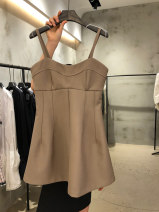 Dress Summer 2021 Brown, black S,M,L,XL Mid length dress singleton  Sleeveless commute other Solid color other routine 18-24 years old Korean version 31% (inclusive) - 50% (inclusive) other other