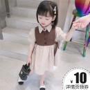 Dress Black, brown, pink female Other / other 90cm,100cm,110cm,120cm,130cm Other 100% summer Korean version Short sleeve Solid color cotton Pleats 7 years old, 8 years old, 12 months old, 3 years old, 6 years old, 18 months old, 9 months old, 6 months old, 2 years old, 5 years old, 4 years old