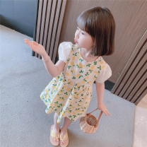 Dress Yellow, red female Other / other 90cm,100cm,110cm,120cm,130cm Other 100% summer Korean version Short sleeve other cotton Pleats Class A 3 years, 18 months, 9 months, 5 years, 7 years, 8 years, 12 months, 6 years, 6 months, 2 years, 4 years Chinese Mainland