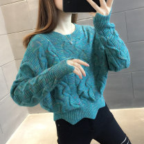 sweater Autumn 2020 S M L XL Hulan rice apricot light purple light green deep purple yellow Long sleeves Socket singleton  Regular other 95% and above Crew neck Regular commute routine Straight cylinder Regular wool Keep warm and warm You've got to go A06114 Other 100% Pure e-commerce (online only)