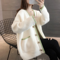 Wool knitwear Autumn 2020 S M L XL Long sleeves singleton  Cardigan other More than 95% Regular routine commute easy V-neck routine Single breasted Korean version You've got to go Pocket screw button Other 100%