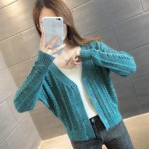 Wool knitwear Autumn 2020 S M L XL Lake blue Beige yellow purple green Long sleeves singleton  Cardigan other More than 95% Regular routine commute easy V-neck routine Single breasted Korean version A06109 You've got to go Threaded button Other 100%