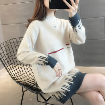 sweater Winter 2020 S M L XL Long sleeves Socket singleton  Medium length other 95% and above Half high collar Regular commute routine shape Straight cylinder Regular wool Keep warm and warm You've got to go thread Other 100% Pure e-commerce (online only)