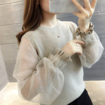 sweater Autumn of 2019 S M L XL Long sleeves Socket singleton  Regular other 95% and above Crew neck Regular commute routine Solid color Straight cylinder Regular wool Keep warm and warm You've got to go Other 100%