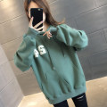 Sweater / sweater Autumn 2020 Green white purple dark grey S M L XL Long sleeves routine Socket singleton  routine Hood easy commute routine letter 96% and above You've got to go Korean version other A06207 pocket Other 100%