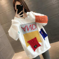 Sweater / sweater Spring 2021 White grey black S M L XL Long sleeves Medium length Socket singleton  routine Crew neck easy commute routine Cartoon animation 18-24 years old 96% and above You've got to go Korean version other A06825 printing cotton Cotton liner Other 100%